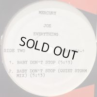 Joe - The One For Me (b/w Baby Don't Stop) (12'') (US Promo Only inc. Baby Don's Stop !!)