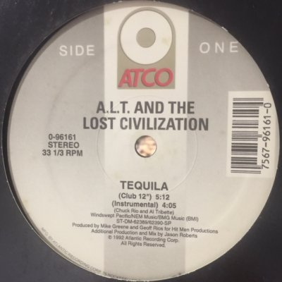 画像1: A.L.T. & The Lost Civilization - Tequila (12'')
