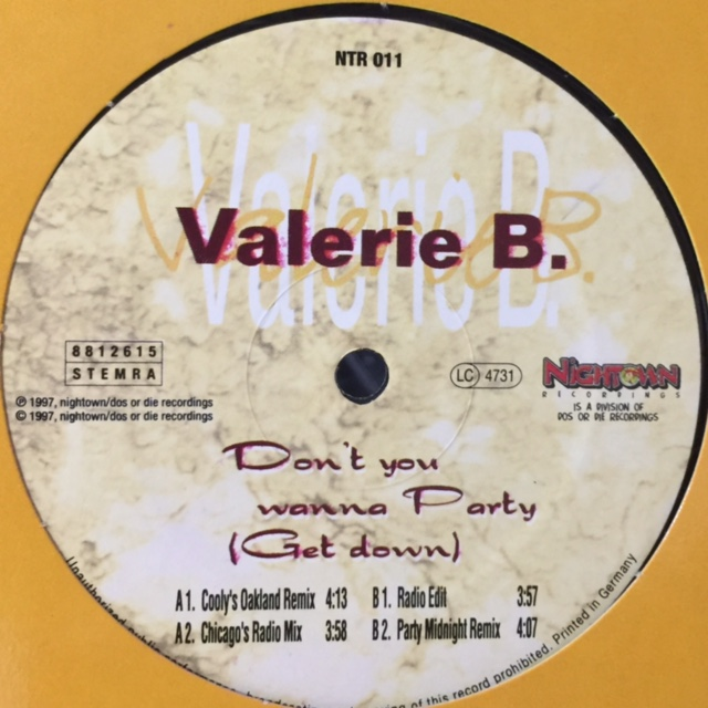 valerie b don t you wanna party get down 12 fatman records